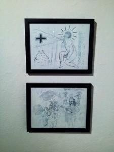 Víctor Sulser: SerpienteVerde. Verdadera historia del Dios, sacerdote y licenciado Quetzalcoatl, 2013 - 2014. 20 dibujos inéditos.